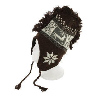 10 Pieces Per Pack Of Insulated Snowflake & Reindeer Design Knit Hat with Fringe ][wholesales purchase|hoodmat.com