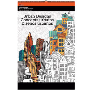 12 Pieces Per Pack Of Urban Designs Large Coloring Pad ][Wholesales Purchase Hoodmat.Com