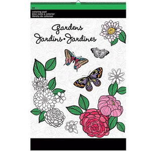 12 Pieces Per Pack Of Gardens Large Coloring Pad ][Wholesales Purchase Hoodmat.Com