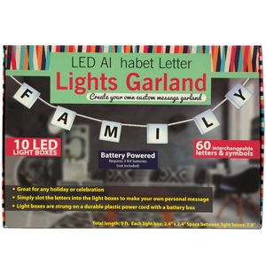 2 Pieces Per Pack Of Led Alphabet Letter Lights Garland ][Wholesales Purchase|Hoodmat.Com