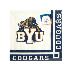 24  Pieces Per Pack Of  Brigham Young University Beverage Napkins ][Wholesales Purchase Hoodmat.Com