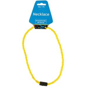 24 Pieces Per Pack Of Yellow Twist Sport Necklace ][Wholesales Purchase|Hoodmat.Com