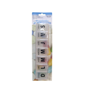 24 Pieces Per Pack Of Large Spanish Language 7-Day Pill Box ][Wholesales Purchase|Hoodmat.Com