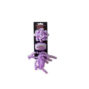 24  Pieces Per Pack Of  Purple Bow and Ribbon Set ][wholesales purchase|hoodmat.com