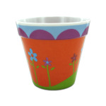 24 Pieces Per Pack Of Melamine Flower Pot with Floral Design ][wholesales purchase|hoodmat.com