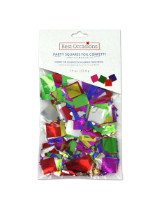 party squares foil confetti