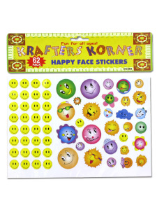 Happy face stickers