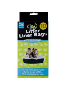 10 Pack litter box liner bags