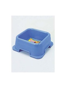 Non-spill heavy square pet dish