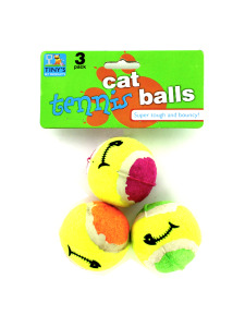 Mini cat tennis balls