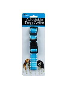 Dog collar with plaid design
