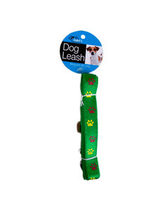 Dog leash with paw print design
