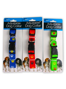 Dog collar with paw print design