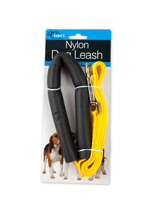 Dog leash with rubber handle
