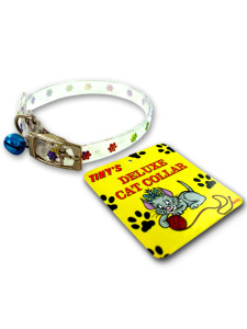 Cat collar with bell (assorted colors)