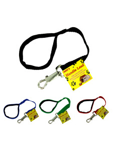 Dog lead with padded handle (assorted colors)