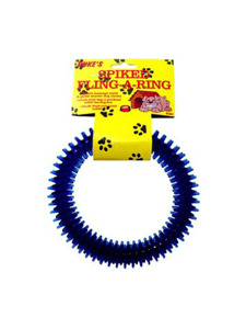 Spike fling-a-ring dog toy (assorted colors)
