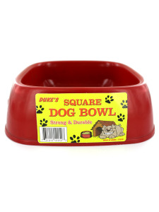 Square dog bowl