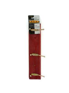 Deluxe wood coat rack with screws