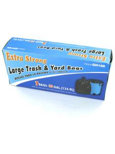 33 gal. extra strong large trash yard bags, 7pk.