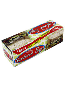Sandwich bags with fold top