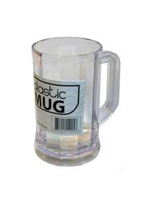 Plastic beverage mug