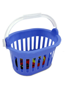 5 1/2 x 9 plastic basket w/ carry handle