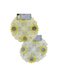 14 inch round lace sunflower doily