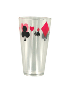 clear plastic 18 oz. poker tumbler