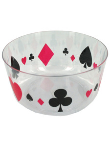 Chip bowl with playing card design