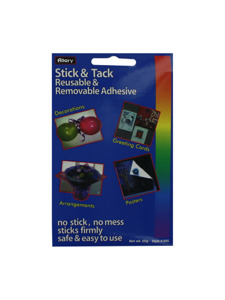 sticky tack reusable adhesive pdq