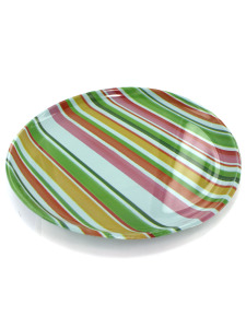 Large colorful plastic platter