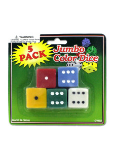 Jumbo colored dice
