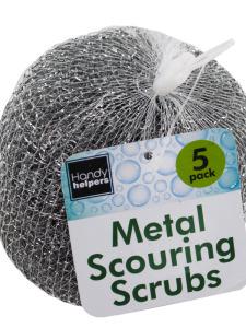 Steel scouring scrubs