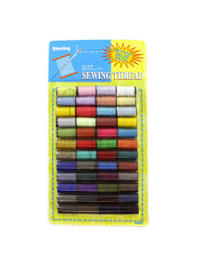 48 Pack colored sewing thread