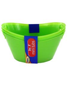 Plastic tubs (set of 3)