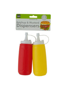Ketchup and mustard dispenser set