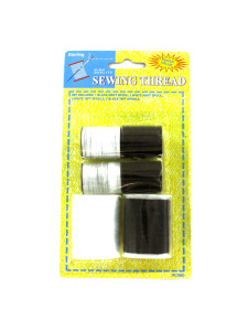 6 Pack black and white thread set