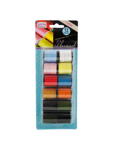 12 Pack colored sewing thread