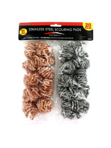 Stainless steel scouring pad value pack