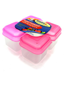 Pack of 4 mini storage containers