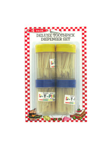 Set of four toothpick dispensers