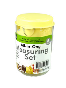 8 Pack measuring set (assorted colors)