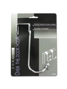Deluxe chrome over-the-door hook