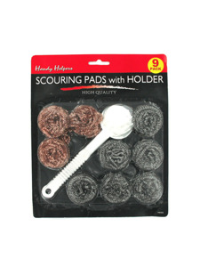 Scouring pads with older