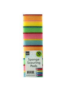 Scouring pads with sponge