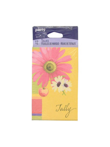 flowers and fruit tally card 12 pack