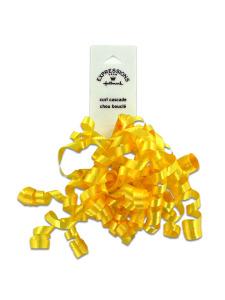 yellow mini curl bow