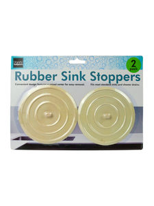Rubber sink stoppers