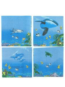 ocean adventure beverage napkins 5x5 inch 16-pack